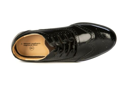 Men/'s Genuine Leather Ghillie Brogues Kilt Shoes with Synthetic Rubber Sole