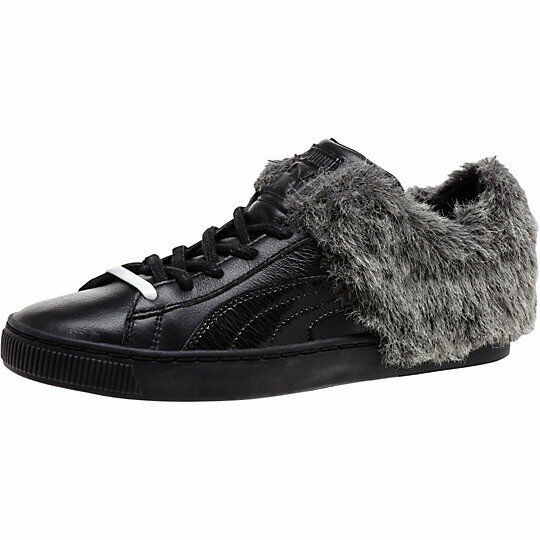 PUMA BASKET SNEAKERS 50/50 FUR LO LEATHER SNEAKERS BASKET WOMEN SHOES BLACK 361328-01 SIZE 8 NEW 0ca5ca