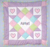 Personalized Baby Girl Quilt Kit With Pattern Lavender Sewing Craft
