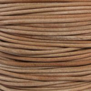 Natural (Undyed)- Premium Natural Round Leather Cord