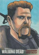 Walking Dead Season 4 Part 2 Sketch Card by Rich Molinelli of Cudlitz as Abraham