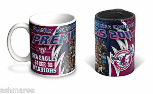 NRL-Manly-Sea-Eagles-Past-Premiers-2011-Coffee-Mug-Can-Cooler-Gift-Pack-Set
