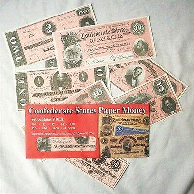 CIVIL WAR CONFEDERATE CURRENCY SET C  REPO $1000,$50.$20.$10.$5 AND $1  37246