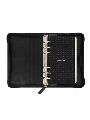 New Filofax Nappa Personal Zip Organiser Planner 2017 Diary Black Leather 025150