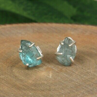 Apatite Hydro Gemstone Jewelry Set Statement Apatite Ring 925 Sterling Silver Dangle Earrings Apatite Necklace