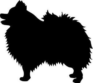 Pomeranian Silhouette Vinyl Decal Sticker Cute Animal Dog