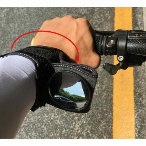 Wrist Wear Bike Mirror Portable Bicycle Wrist Band Rear View Mirror Rearview