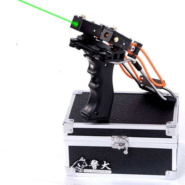 746  Fronde lance pierre Aluminium slingshot plein air loisir Arc Catapult laser