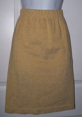 Generous Partners Mervyns Women's Skirt Large Knee Length Gold Metallic New Clothing, Shoes & Accessories Skirts
