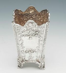 Sterling-Silver-Jardiniere-Posy-Pot-very-ornate-Made-in-Engand
