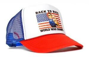 Rosie Back To Back World War Champs Champions Hat Cap Curved Bill ... f447b479d9a5