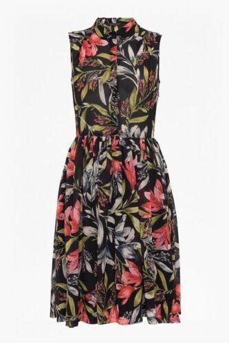 New French Connection Cadencia Floral Drape Shirt Dress Sz UK 8
