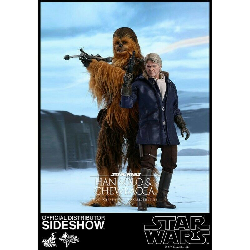 HOT TOYS Star Wars VII Force Awakens Chewbacca & Han Solo 2-Pack
