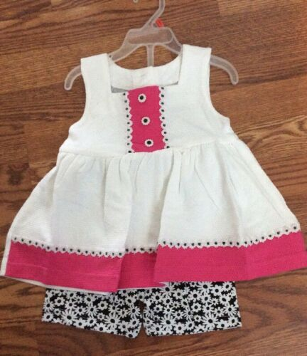 Girls Dress Short Suit Size 2TDaisy Black Pink White New Basic Editions NWOT