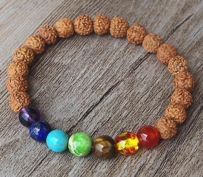 8 mm Rhodochrosite bouddhiste perle Bracelet Guérison Unisexe énergie Reiki bouddhisme