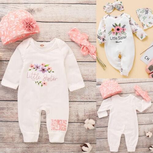 Newborn Baby Girl Floral Romper Bodysuit Jumpsuit Playsuit Winter Clothes Outfit