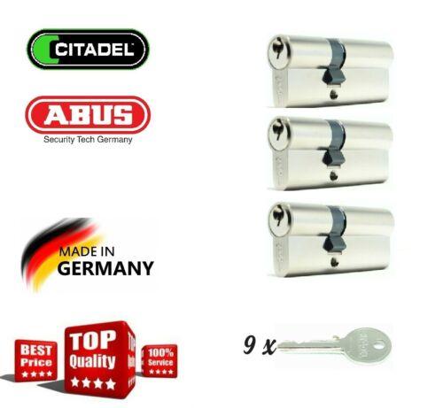 ABUS CITADEL 3er Set 30//40 70mm Profilzylinder Gleichschließend Schließanlage