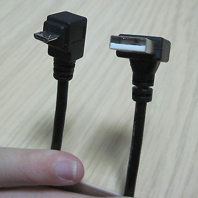 down direction angle 90 degree micro B 5pin USB male to Down A male data cable