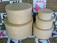Set Of 5 Round Paper Mache Craft Boxes To Paint, Decoupage, To Make Fabulous