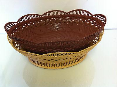 Plastic Basket//Bowl Fruit,Bread Roll,Crossiant,Nan,Roti 2 Colour Home//Commercial