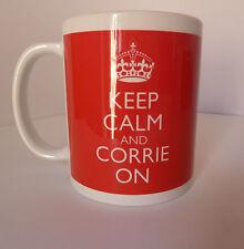 New Keep Calm and Corrie On Carry On Gift Present Mug Cup Coronation Street Fun