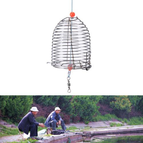 Cage Fishing Trap Korb Feeder Holder Edelstahl Draht Angeln Köder ZP