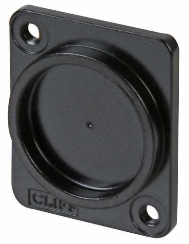 3mm Black Metal Recess Plate Plain Holes CLIFF ELECTRONIC COMPONENTS