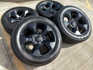 Dodge Ram 1500 Tires >> Details About 20 Dodge Ram 1500 Oem 2019 2020 Rebel Black Wheels Rims Tires 2675 6x5 5 New