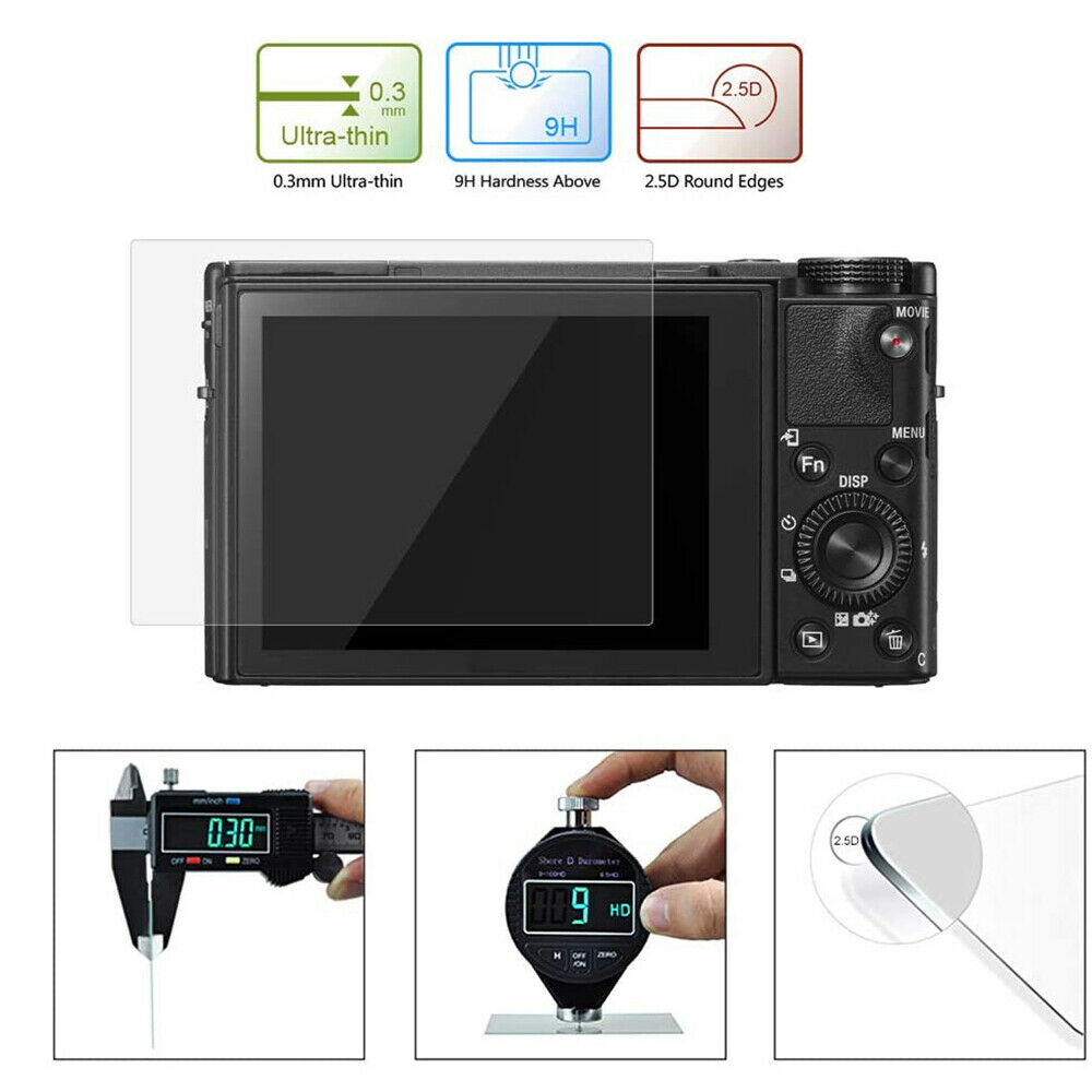 Screen Protector Tempered Glass Film For Sony RX100,RX100Ⅳ,RX100Ⅶ Anti-scratch
