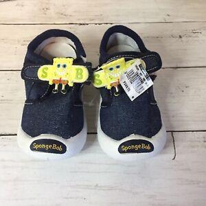 Kids Sponge Bob Boy's Denim Shoes USA