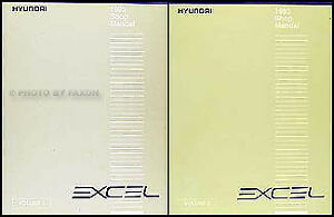 1993 Hyundai Excel Original Shop Manual 2 Volume Set ...