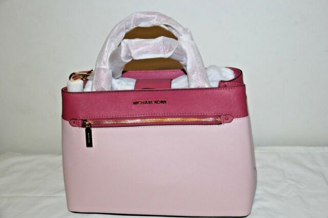 e074bfd537ca NWT Michael Kors Hailee Medium Satchel Leather Shoulder Bag Tulip Blossom  Pink