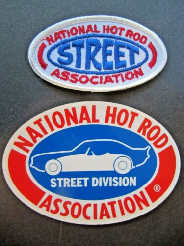 2 LOT NHRA VINTAGE STREET DIVISION PATCH /& DECAL 1970/'s