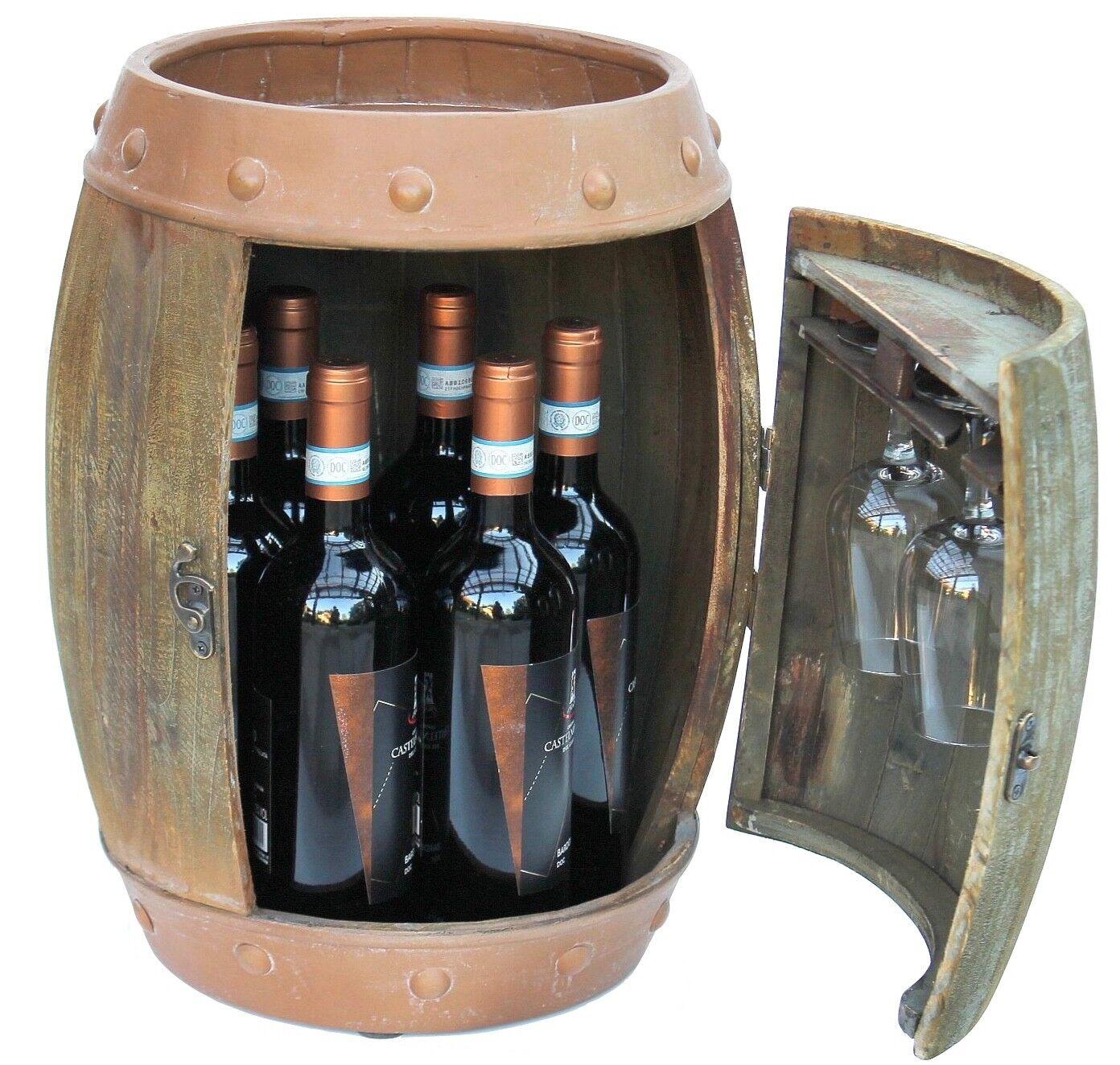 Étagère à vin bois tonneau marron 33 cm 91361 bouteilles étagère tonneau bois vintage bar
