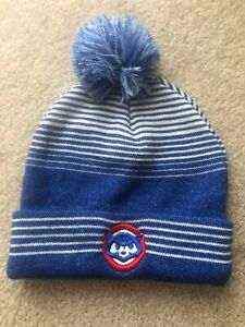 Chicago Cubs winter Sock hat one size beanie Winter Hat Ear Warmer ... 43e37c32cc6