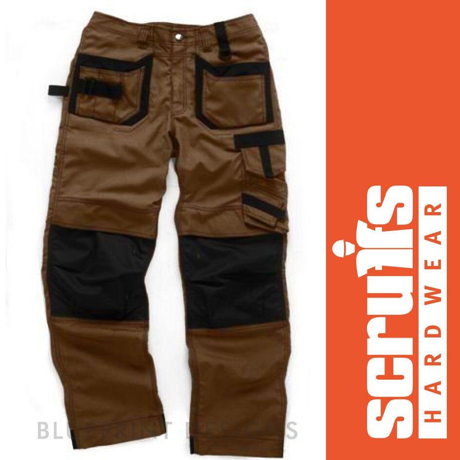 Scruffs Brown Pro Trousers   Work Cargo   Combat Heavy Duty Sizes 32 -40  NEW