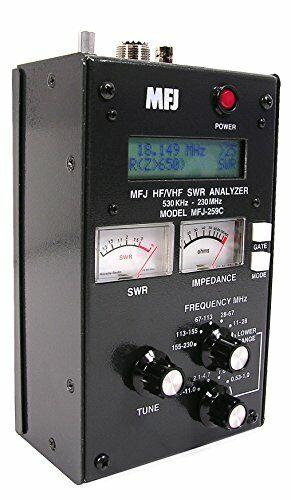 SWR Antenna Analyzer MFJ-259D HF VHF 0.53-230Mhz. Available Now for 344.98