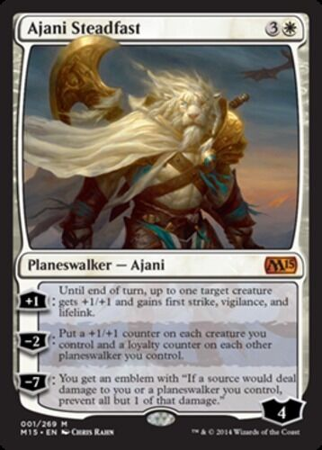 Ajani Steadfast 1x English -BFG- MTG Magic Magic 2015 Core Set Near Mint x1