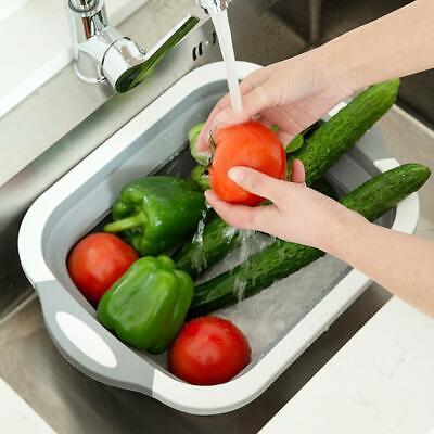 Obst Gemüse Ablauf Korb Faltbare Küche Sieb Collapsible Sink 4 in1 Multi-Board