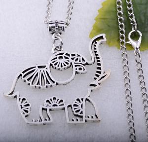 1pcs Metal alloy Elephant fine charm necklace jewelry making 41x49mm #6164