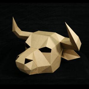 Image Is Loading DIY Paperwork Animal OX Cow Head Halloween Party