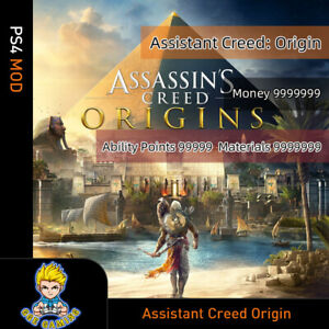 Assistant-Creed-Origin-PS4-Mod-Max-Level-Money-Skill-points-All-resources