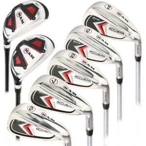 Ram-Golf-Accubar-Mens-Right-Hand-Iron-Set-6-7-8-9-PW-FREE-HYBRID-INCLUDED