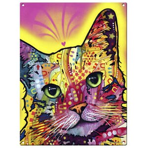 Tilt Cat Dean Russo Pop Art Sign Pet Steel Wall Decor 12 x 16
