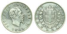 pci0170) Regno Vittorio Emanuele II lire 2 Stemma NA 1863