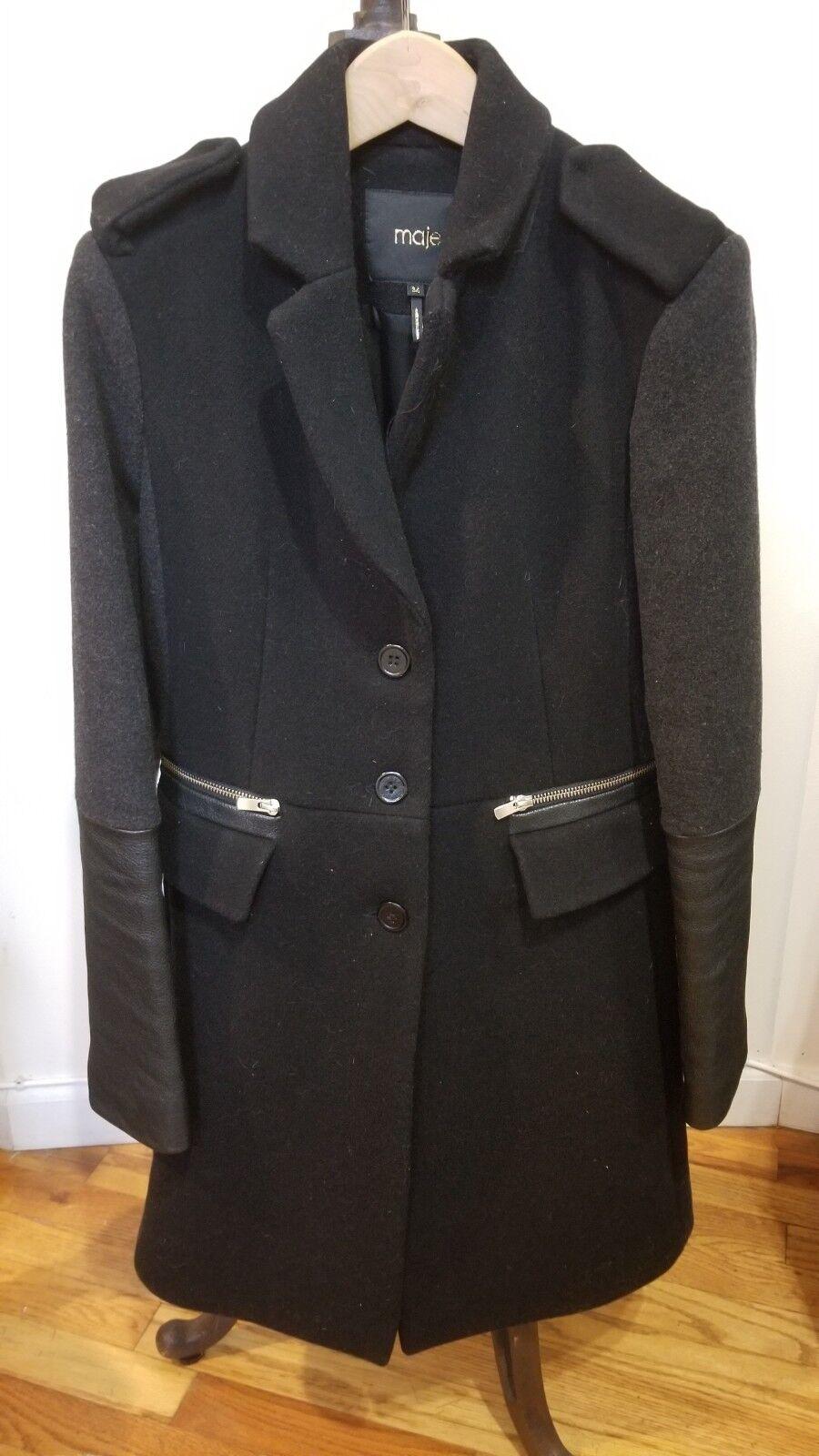Maje Wool Coat, Size 36