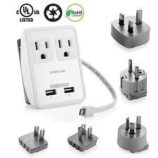 Universal Dual USB Charger World Travel Power Plug Adapter Converter AU/US/UK/EU