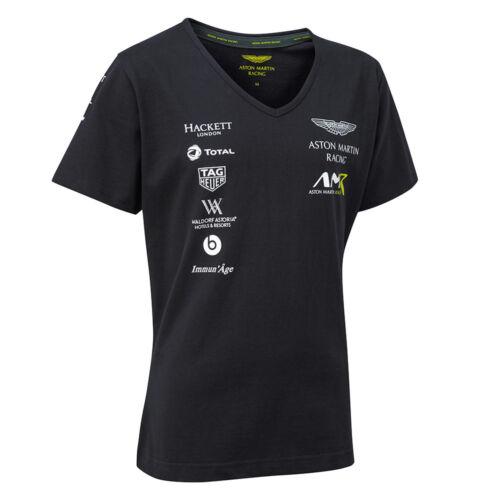 2018 Aston Martin Racing Ladies Team T-Shirt Navy Womens Girls Sizes XS-XL New