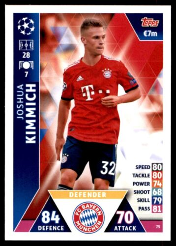Joshua Kimmich FC Bayern München no 75 Match Attax Liga de Campeones 2018//19