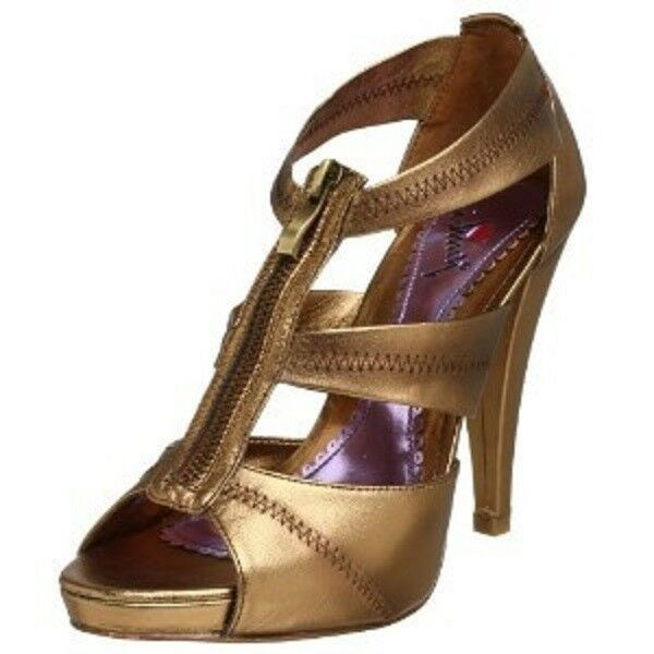 Luichiny Clarisa Metallic Bronze Heels Schuhes, 10M - MSRP 129 VERY RARE